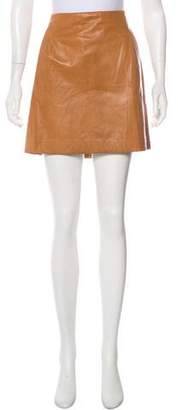 Vince Leather Mini Skirt