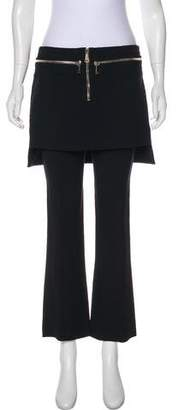 Givenchy Mid-Rise Skirted Pants