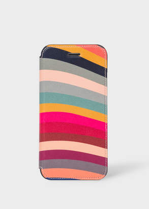 Paul Smith 'Swirl' Print Leather iPhone 6/6S/7/8 Wallet Case