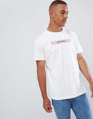 Jack and Jones Originals T-Shirt With Wild Night Slogan