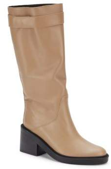 Slouch Mid-Calf Leather Boots $795 thestylecure.com