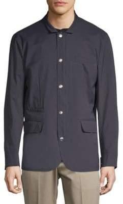 Brunello Cucinelli Spread Collar Long-Sleeve Jacket