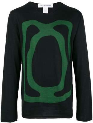 Comme des Garcons crew neck intarsia sweater