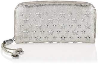 Jimmy Choo FILIPA Champagne Glitter Leather with Stars