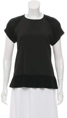 Yigal Azrouel Cut25 by Short Sleeve Scoop Neckline Shirt