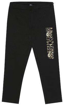 Moschino Kids Printed stretch jersey pants