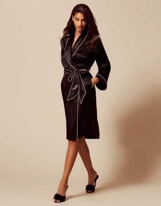 Agent Provocateur Classic Dressing Gown Black
