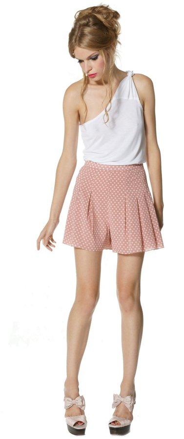 Polka dot flutter shorts   60% OFF