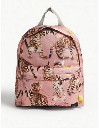 Molo Wannabe leopard nylon backpack