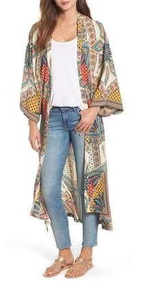 Kas Scarf Print Kimono Jacket