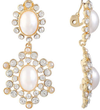 At Jcpenney Monet Jewelry White Simulated Pearl Clip On Earrings