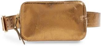 J.Crew Harper Metallic Leather Fanny Pack
