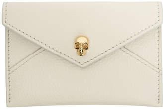 Alexander McQueen Off-White Skull Envelope Card Holder
