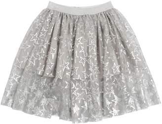 Stella McCartney Star Printed Stretch Tulle Skirt