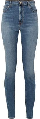 J Brand Carolina 32 High-rise Skinny Jeans - Mid denim