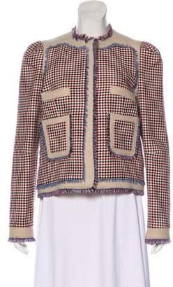 Balenciaga Houndstooth Wool Jacket