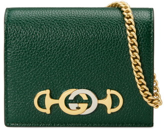 d5a1dc4bd18e Gucci Zumi 655 Leather Wallet on a Chain