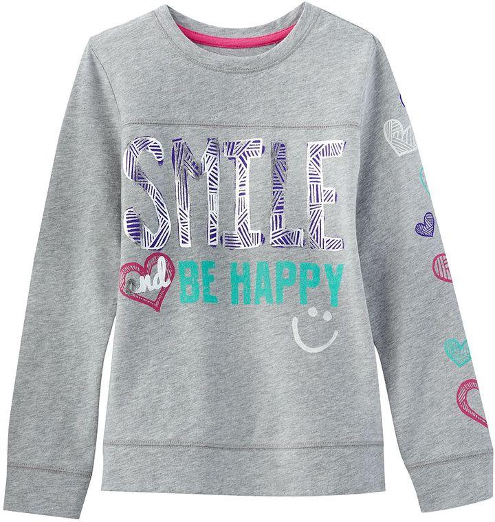 """Mudd smile"""" tee - girls 4-6x"""