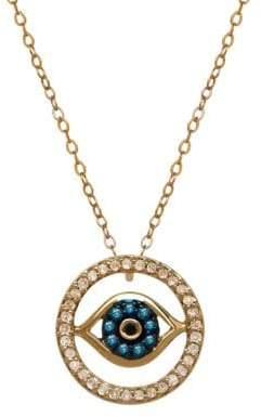 Lord & Taylor 14K Gold Diamond Evil Eye Necklace