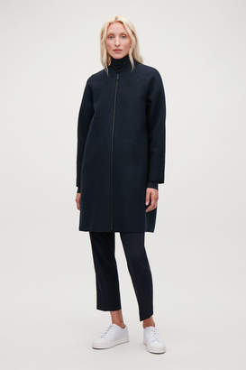 Cos BOILED-WOOL COCOON COAT