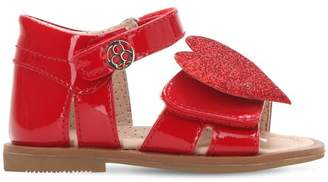 Heart Patent Leather Sandal