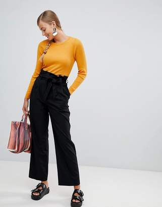 Monki Highwaisted Paperbag Tailored Pants