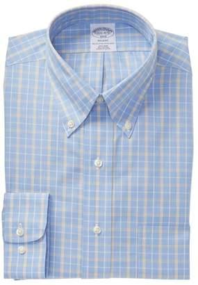 Brooks Brothers Plaid Regent Modern Trim Fit Dress Shirt