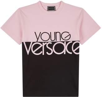 Versace Colour Block Logo T-Shirt