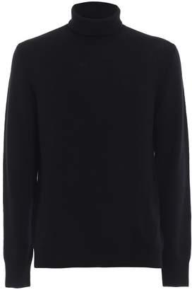 Dondup Black Soft And Warm Merino Wool Turtleneck