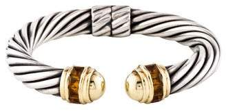David Yurman Citrine Cable Classics Cuff Bracelet