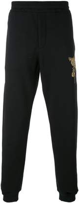 Alexander McQueen embroidered track trousers