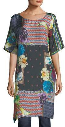 Johnny Was Mabel Long Silk Tunic