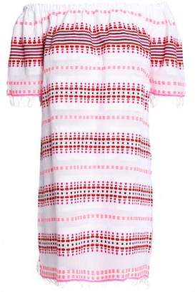 Lemlem Off-The-Shoulder Embroidered Cotton Dress