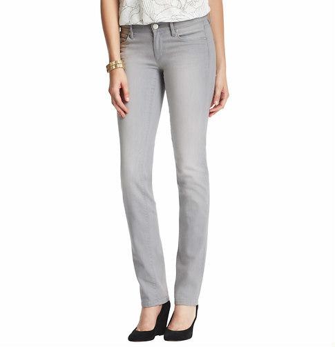 LOFT Modern Straight Leg Jeans in Canvas Grey Wash