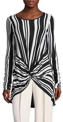 INC International Concepts Striped Knotted Tunic