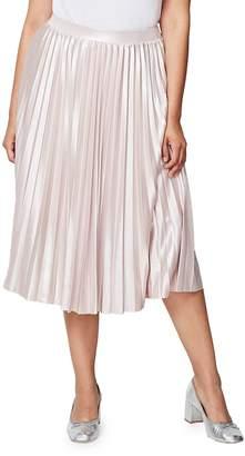 Rachel Roy Women's Accordion-Pleated Skirt - Blush, Size 3x (22-24)