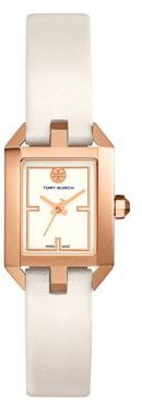 Tory BurchTory Burch The Dalloway Rose Goldtone and Leather Strap Watch