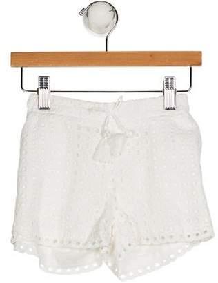 Chloé Girls' Eyelet Mini Shorts