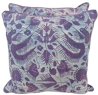 One Kings Lane Vintage Pair of Batik Textile Pillows