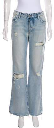 Adaptation Mid-Rise Distressed Jeans w/ Tags