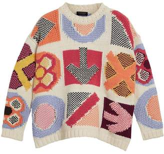 Burberry intarsia-knit jumper