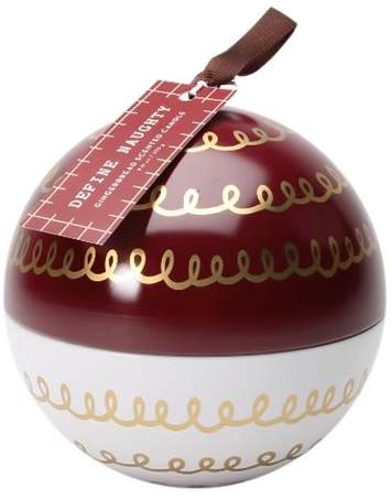 Ornament Tin Candle Gingerbread 9oz