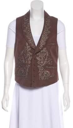 Ralph Lauren Embellished Collared Vest