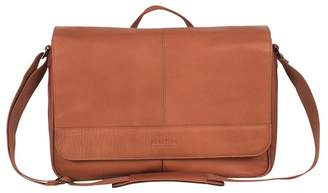 Kenneth Cole Single Gusset Flapover Colombian Leather Messenger Bag