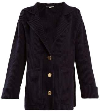 Stella McCartney Patch Pocket Wool Cardigan - Womens - Navy