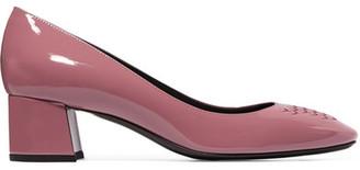 Bottega Veneta - Intrecciato Patent-leather Pumps - Antique rose $590 thestylecure.com