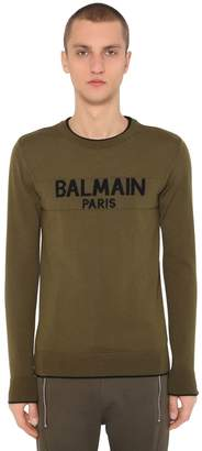 Balmain Wool Logo Knit Sweater
