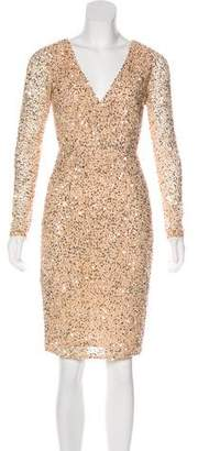 Rachel Gilbert Sequined Knee-Length Dress w/ Tags