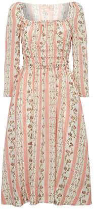Brock Collection Principessa Floral Silk Dress