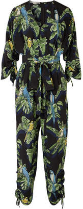 Stella McCartney Printed Silk Crepe De Chine Jumpsuit - Green